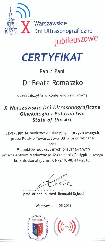 X Warszawskie Dni Ultrasonograficzne