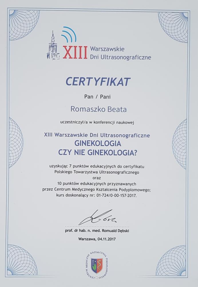 XIII Warszawskie Dni Ultrasonograficzne