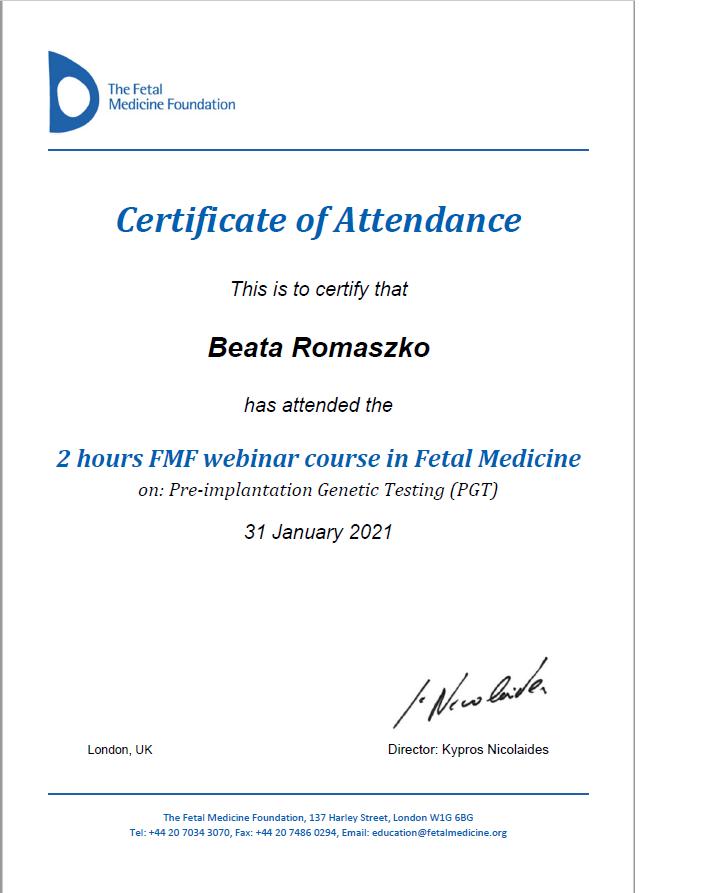 Pre-implantation Generic Testing (PGT).  The Fetal Medicine Foundation.
